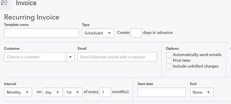 QuickBooks Online Tutorial Setting Up Recurring Transactions - Quickbooks online recurring invoice